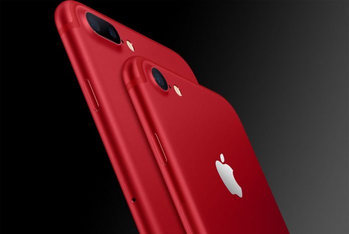 Új rubinpiros Apple iPhone (RED) telefon