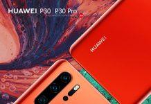Varázslatos Naplemente színben a Huawei P30