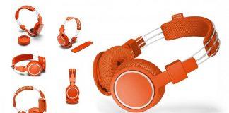 UrbanEars HELLAS mosható BT fejhallgató család Roland Garros narancsvörös modellje