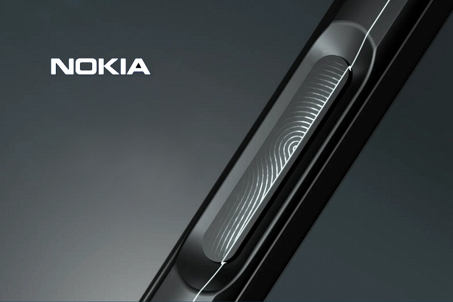 Nokia 8 V 5G UW mobiltelefon ujjlenyomat olvasó oldalt