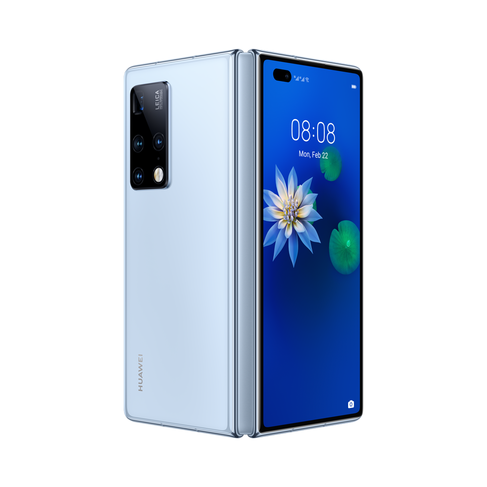 A Huawei Mate X2 új generációs, zászlóshajó okostelefon vadonatúj, kompakt kialakítással, szándékosan eltolt tömegközépponttal, nagy szilárdságú acél és szénszálas kompozit készülékházzal, Ultra Vision Leica Quad kamerarendszerrel és Kirin 9000 5G chipkészlettel és az 55 W-os gyorstöltést támogató 4500 mAh-s akkumulátorral érkezik.