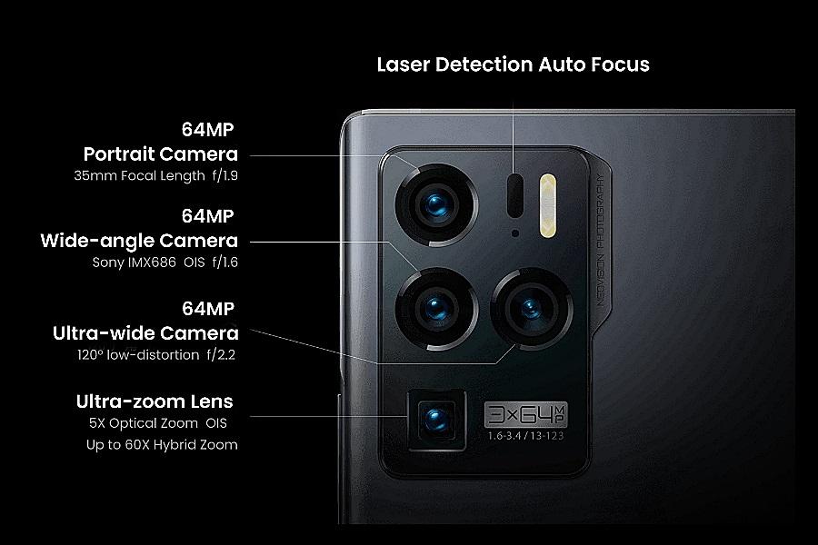 ZTE Axon 30 Ultra 5G kamerarendszer